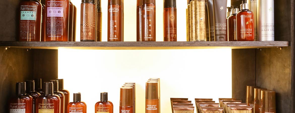 Goji hair products on shelves