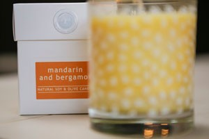 Wild Olive mandarin and bergamot candle